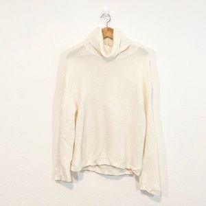 H&M White Knit Long Sleeve Turtleneck Sweater S